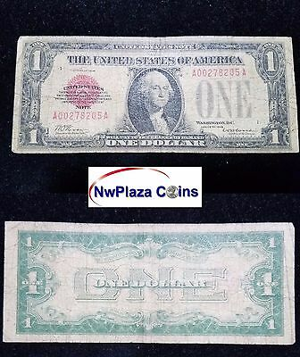 1928 $1 One Dollar Red Seal Legal Tender United States Note #205A