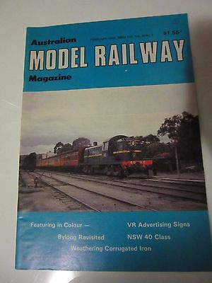 Australian Model Railway Magazine February   1982 Issue 112  Vol 10 No 7