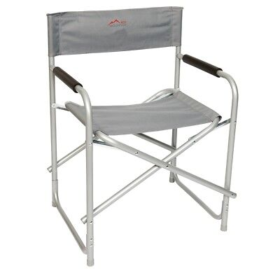 Red Mountain Director's Chair Backrest Armrests Collapsible Steel Grey 1267211