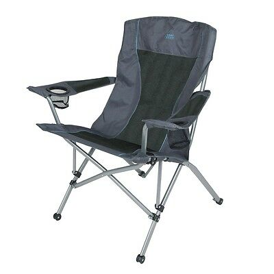Camp Gear Folding Camping Chair Picnic Outdoor Deluxe Comfort Anthracite 1204744