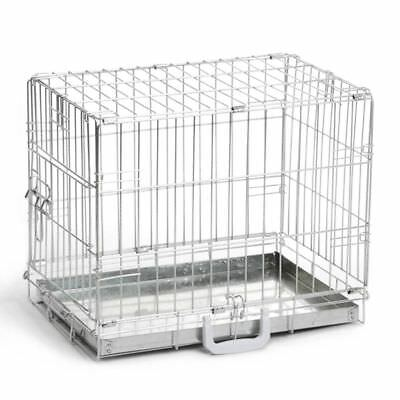 Beeztees Dog Cat Puppy Pet Metal Wire Cage Crate Carrier 49x36x40 cm 715745