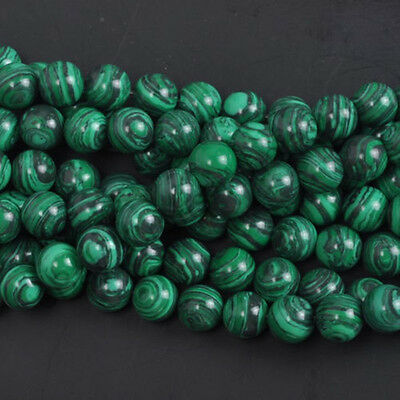 Wholesale Green Malachite Lot Natural Gemstone Round Spacer Loose Stone Beads