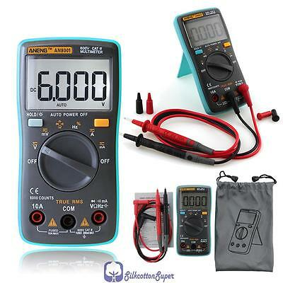 Auto-Ranging Digital Multimeter Voltmeter Ammeter Ohmmeter AC DC Tester Meter