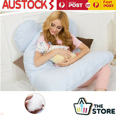 Maternity U Shaped Body Pillows Body Pregnancy Pillow For Side Sleeper Removable