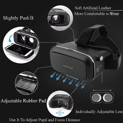3D VR Brille Virtual Reality Movie-Brille Headset VR Box mit Bluetooth Gamepad S