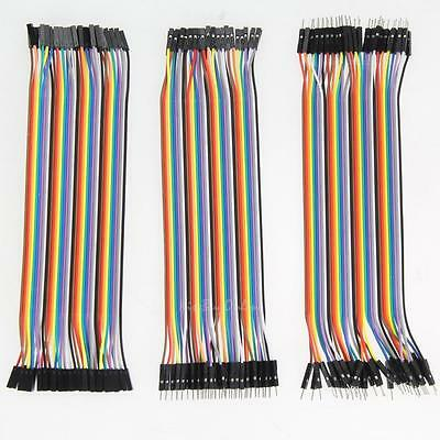120pcs 2.54mm 1pin Jumper Wire DuPont Cable for Arduino 20cm