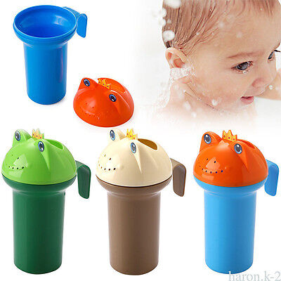 Frogs Shape Shower  Cup Baby Bath Toy Water Pouring Shampoo Kids Hair Wash