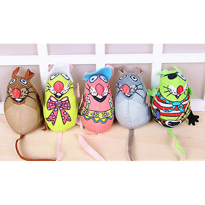 New Fashion Little Canvas Mouse Chewing For Cat Kitten cat toys catnip colorful