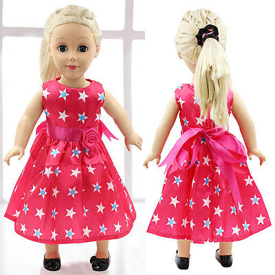 "Fits 18"" Girl Madame Alexander Handmade Fashion Doll Clothes Pink Dress Hot"