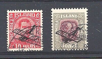 ICELAND 1928-29 Airmails ovpt set of 2 - 99943
