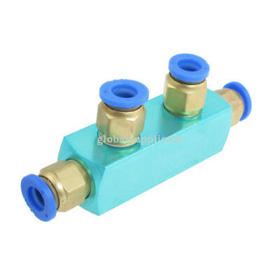 8mm 2 Position Connector Fitting Coupler for Pneumatic Piping