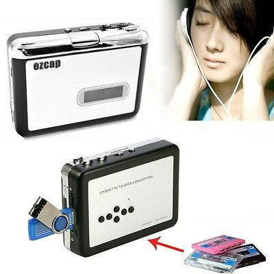 USB Walkman Metal Deck Cassette Music to MP3 Player Converter Recorder, NO PC