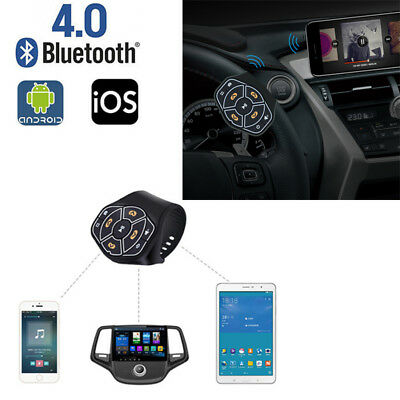 Bluetooth Wireless Steering Wheel Hands-free Button Remote Control Universal Car