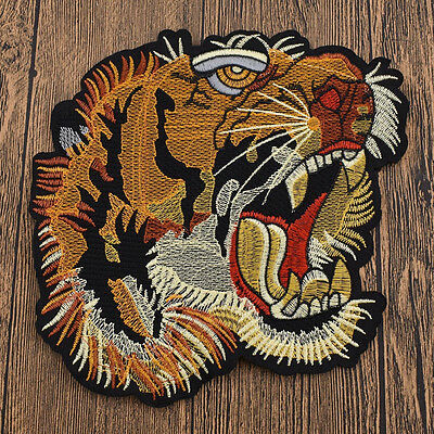 Big Tiger Patches Embroidered Badge Applique Fabric Handcraft  Supplies DIY 1 Pc