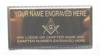 MASONIC CASE NAME PLATE ENGRAVED WITH LODGE No & NAME