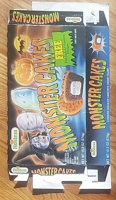 1994 Hostess Monster Cakes Box, vintage horror, cereal, rare collectors item