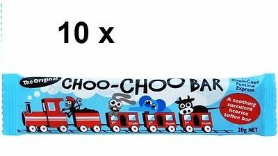Choo Choo Bars Original Licorice Flavour 10 x 20g