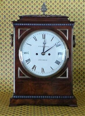 Regency Period Mahogany & Brass Fusee Bracket Clock