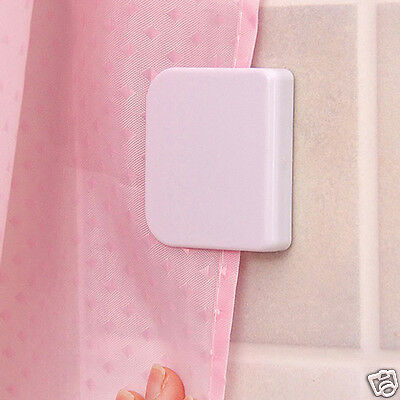 2pcs Self Adhesive Anti-Splash Shower Curtain Clips Stop Water Leaking Guard NEW