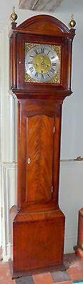 19th Cent Mahogany 8 Day Longcase Clock