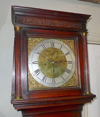 Fine 18th Cent Mahogany 8 Day Longcase Clock