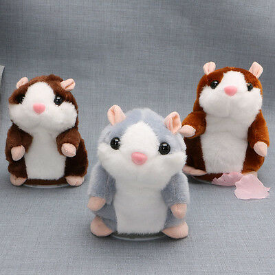 Cute Talking Nod Hamster Mouse Record Chat Pet Plush Toy Gift for Kids Eyeful AU