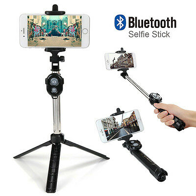 Handheld Tripod Monopod Extendable Selfie Stick Shutter Remote for Android IOS