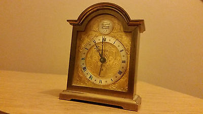Swiza Tempus Fugit Clock - Brass Carriage Swiss Alarm Vintage 8 - Fully Working