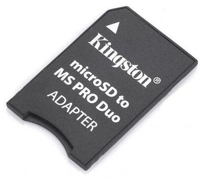 Adaptador Kingston Micro SD a MS Pro Duo para PSP y Camara Sony