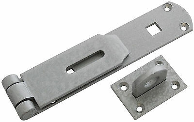 Large 14 Inch Heavy Duty Hasp & Staple Set - Doors - Security Locks - Gates