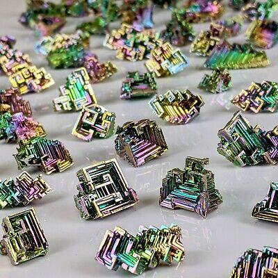 GEMCORE: 8 Pieces Bismuth Jewelry Wire-Wrap Crystals Educational Lab Grown USA