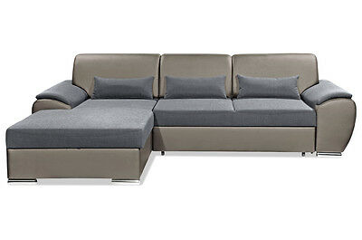 Sofa couch nova via ecksofa calypso mit schlaffunktion for Ecksofa xl nikita
