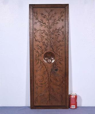 *French Antique Breton Hand Carved Architectural Panel Solid Chestnut Wood 2