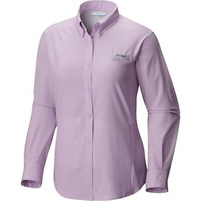 Columbia Tamiami II Long Sleeve Shirt - Womens, Phantom Purple, XL