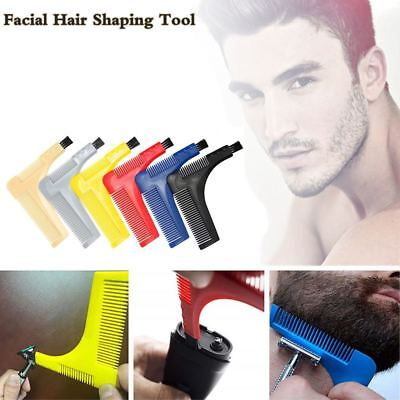 Moustache Comb Beard Template Trimming Line Styling Shaper Shaver Clean Brush