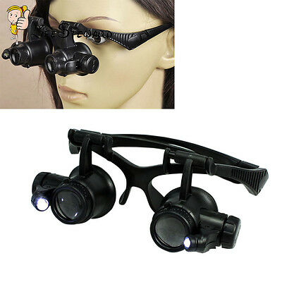 10X 15X 20X 25X Lens Jeweler Watch Repair Magnifying Glasses Magnifier Loupe