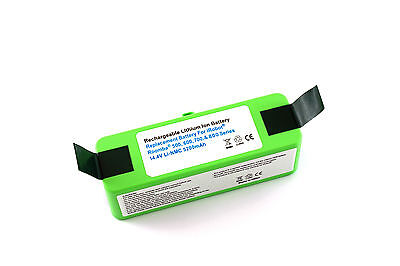 Li-ion, Lithium NMC battery for Roomba 500-600-700-800 Series, 5200 mAh