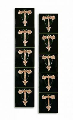 Set of 10 ceramic replika art nouveau tiles in antique style handpainted set(m)