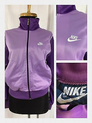 Vintage NIKE Blue Label Lavender Purple Track Suit Jacket - M Made in Japan
