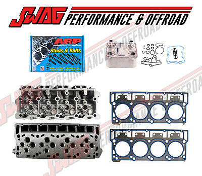 ENGINETECH Head Kit For 2006-2010 Powerstroke 6.0L Heads Gaskets Oil Cooler ARP
