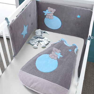 Les Kinousses Baby Cot Bumper Large Size Luxury Sleeping Bag - 4990 Blue