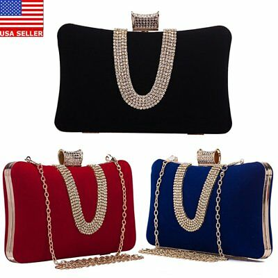 Women s Luxury Rhinestone Dinner bag Party Wedding Handbags Evening Bags  Clutch 9a24bc8f3aef