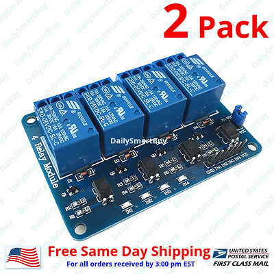 2 x 4 Channel 5V Relay Shield Module Board  for Arduino Raspberry Pi ARM AVR CN
