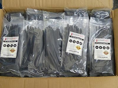 8'' Nylon Cable Ties Black 4.7mm 50 LB 15000 PCS