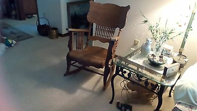 Antique Estate Rocking Chair Hand carved wood