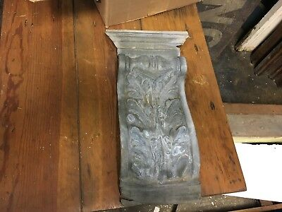"Early 20th century Inc building facade acanthus leaf design element 20"" x 10.25"""