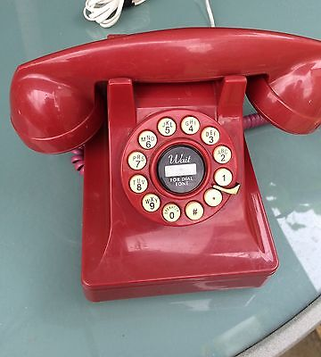 Telephone 1930 carrington Old style Red working order Push button  stylish