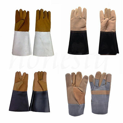 1 Pair Leather Welding Gloves Heat Shield Cover Protective Hand Safety Wear