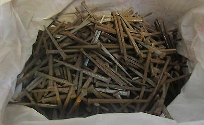 Antique Vintage  3 Inch Square Head Nails 7 Pounds Lot