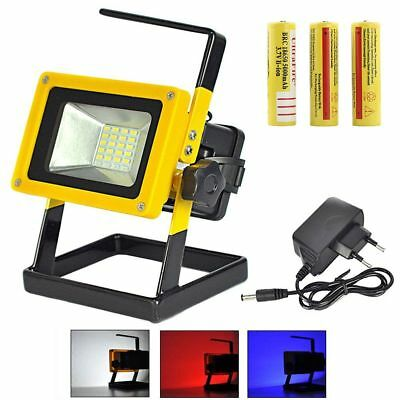 10W 5730 24 LED Rechargeable Portable Outdoor Camping Flood Light Spot Work Lamp